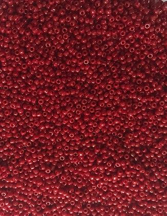11/0 OP Brick Red Seed Bead