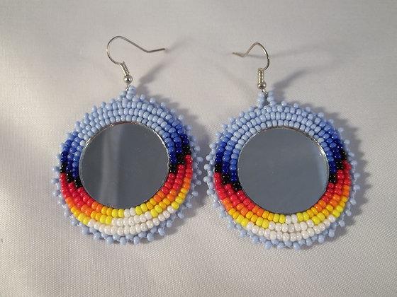 Light Blue Mirror Earrings