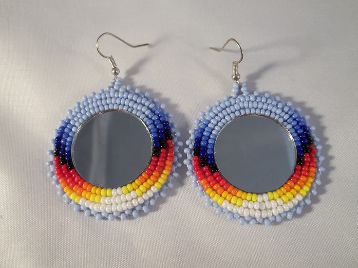 Light Blue Mirror Earrings