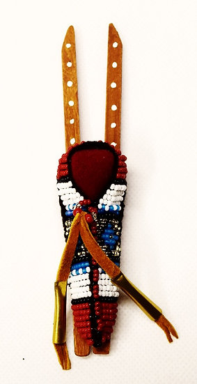 Red Beaded Cradle Board Magnet