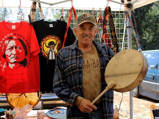 Richard Flittie Drum Maker at Native West Trading