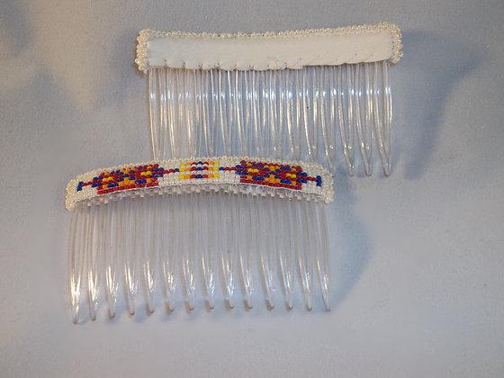 Beaded Hair Combs-Pearl