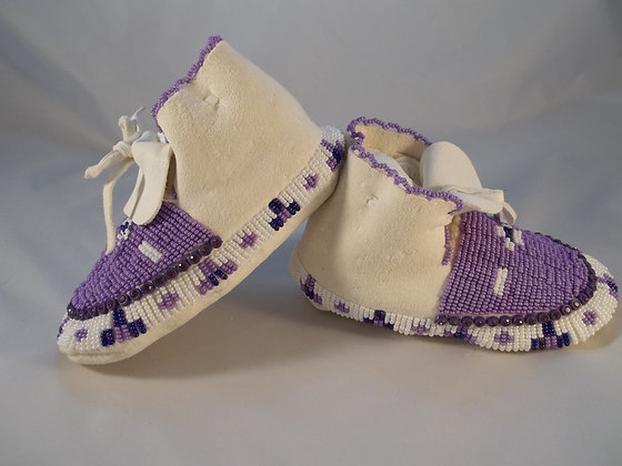 Purple Youth Moccasins