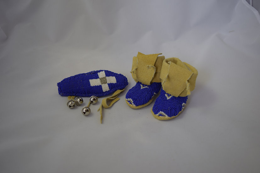 Beaded Baby Moccasins & Amulet