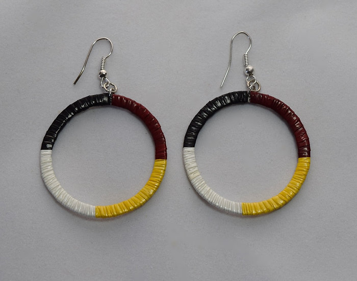 Four Direction Quilled Earrings