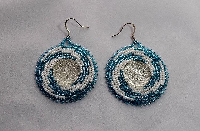 Light Blue Bling Earrings