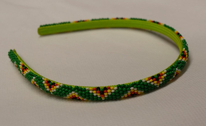 Green Beaded Headband