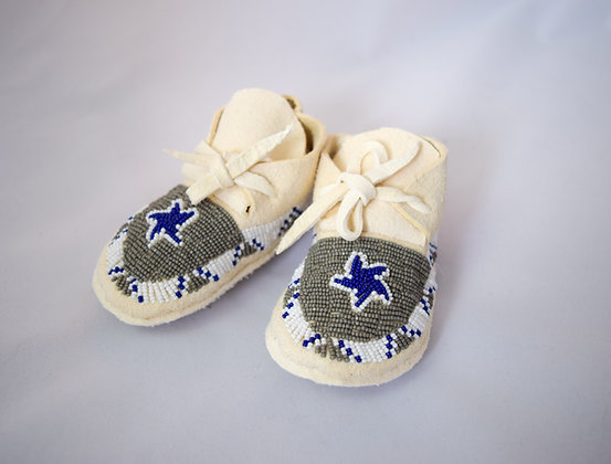 Dallas Cowboys  Baby Moccasins