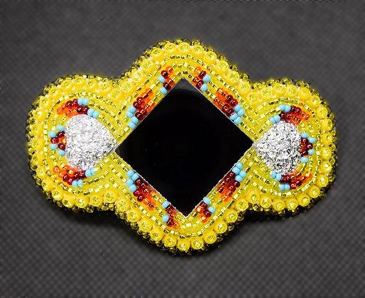 Yellow Mirror Barrette