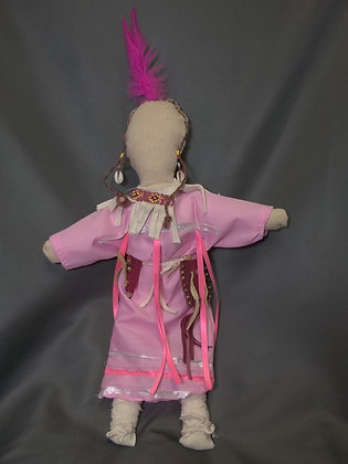 Doll-Pink Dress with Pink Feather