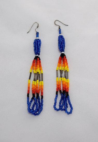 Blue Starburst Earrings