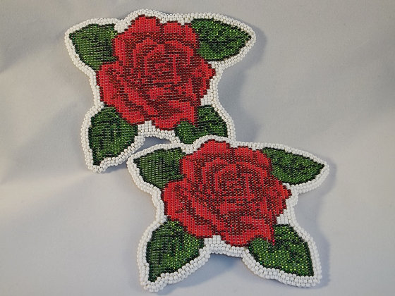 Matching Rose Barrettes