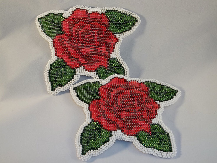 Matching Rose Barrettes