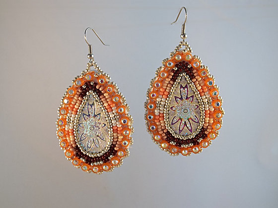 Corral Tear Drop Earrings
