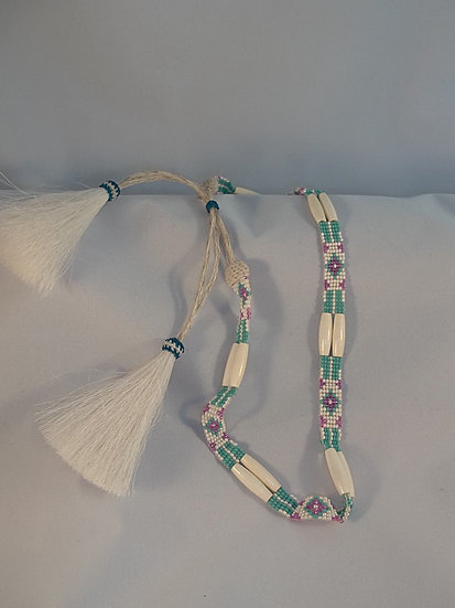 Horsehair and Beaded Hatband