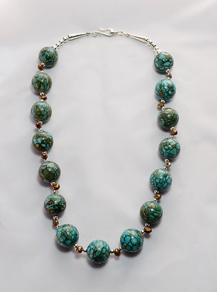 Turquoise Ball Necklace