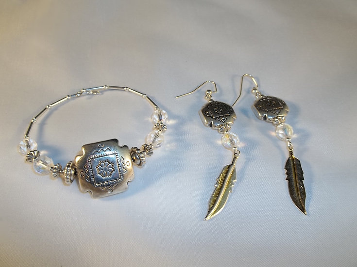 Silver and Crystal Set