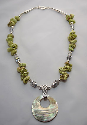 Light Green Abalone Shell Necklace