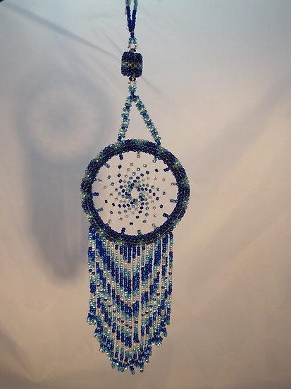 Beaded Dream Catcher-Blue