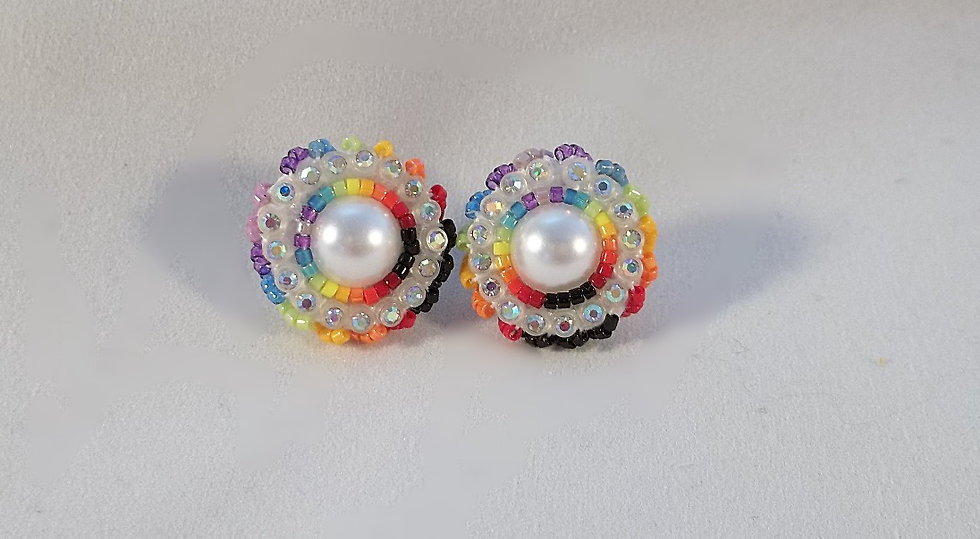 Small Earring Post-Rainbow
