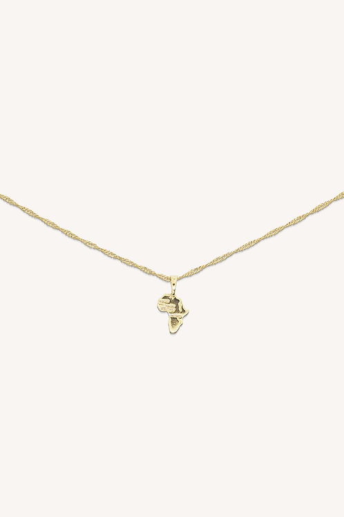 Mini Africa Necklace Gold