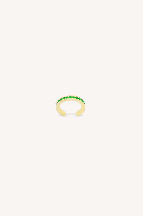 Emerald Zirconia Cuff Earring Gold