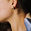Thumbnail: Cut Out Star Hoops Gold