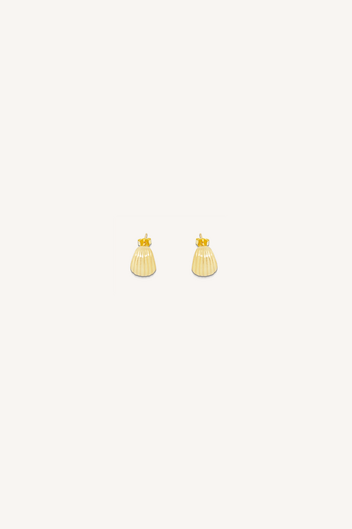 Shell Studs Gold
