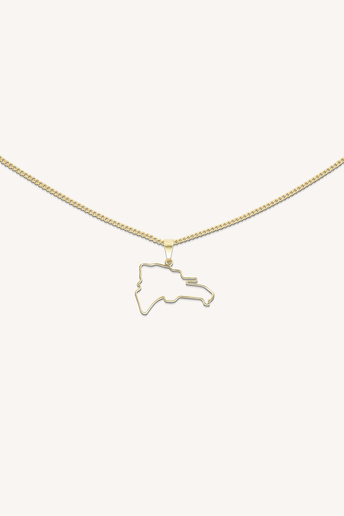 Dominican Republic Necklace Gold
