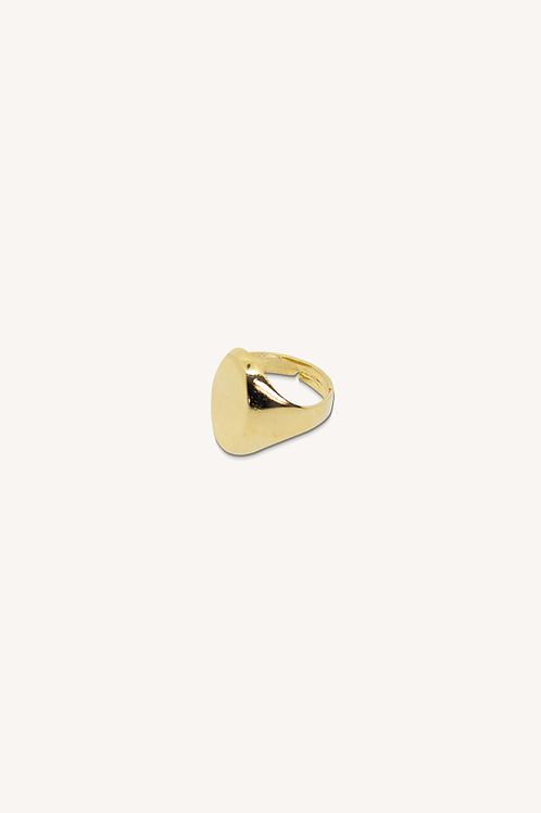 Oval Signet Ring Gold