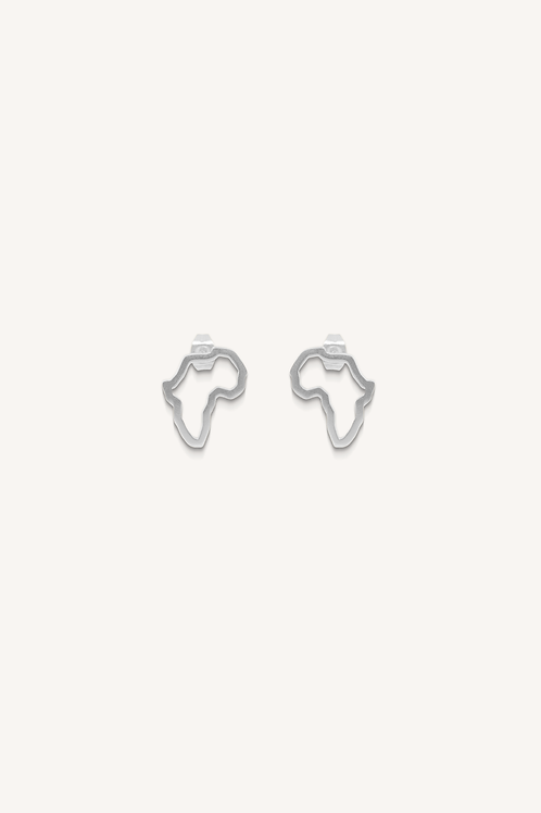 Africa Studs Silver