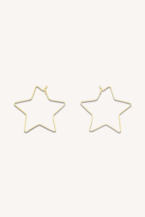 Star Midi Hoops Gold