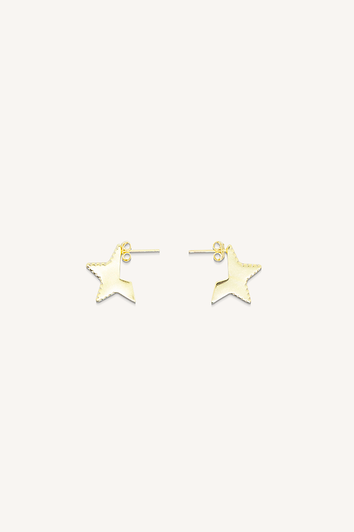 Cut Out Star Hoops Gold