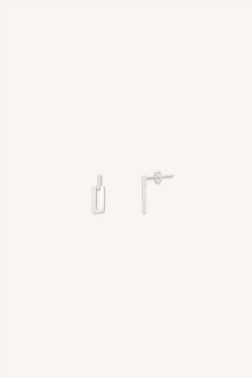 Celine Drop Earrings Small Silver