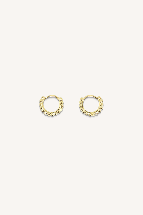 Dot Hoops Small Gold