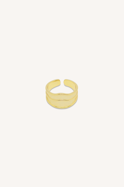 Waves Ring Gold