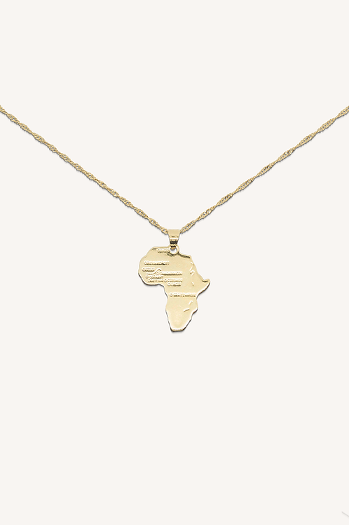 Africa Necklace Gold