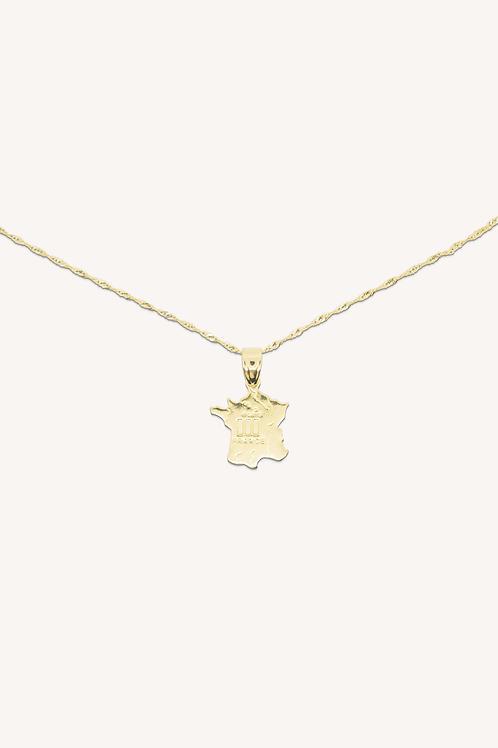 France Necklace Gold