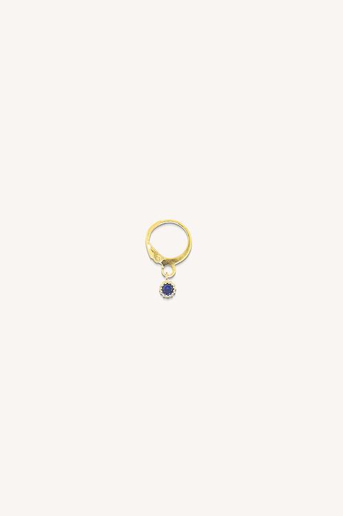 Night Hoop Sapphire Zirconia Gold