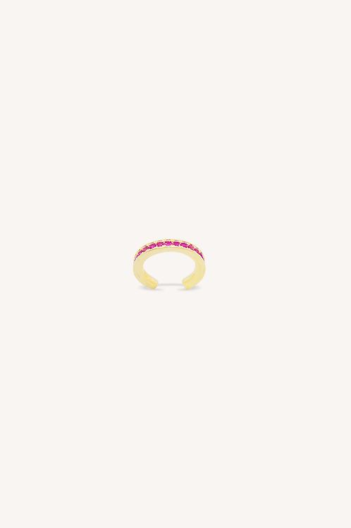Garnet Zirconia Cuff Earring Gold