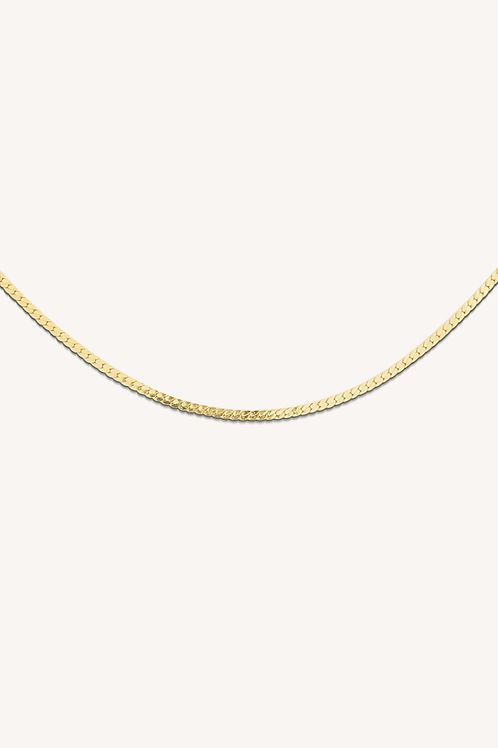 Herringbone Necklace Gold