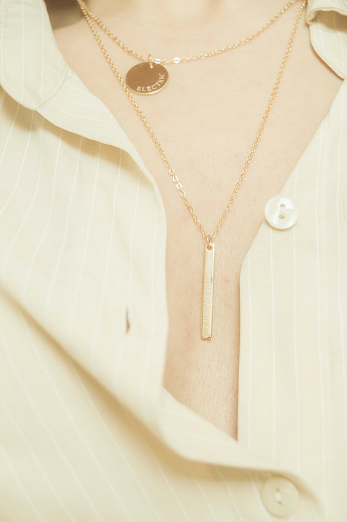 Personalized Drop Bar Necklace
