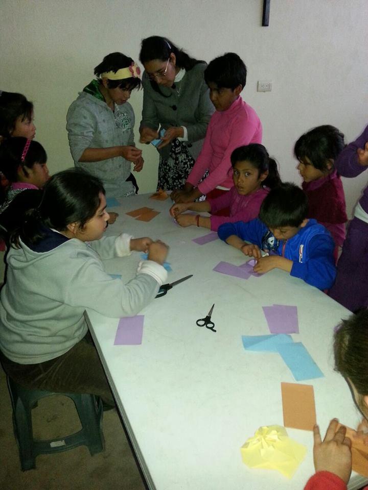 Trabajando con los niños