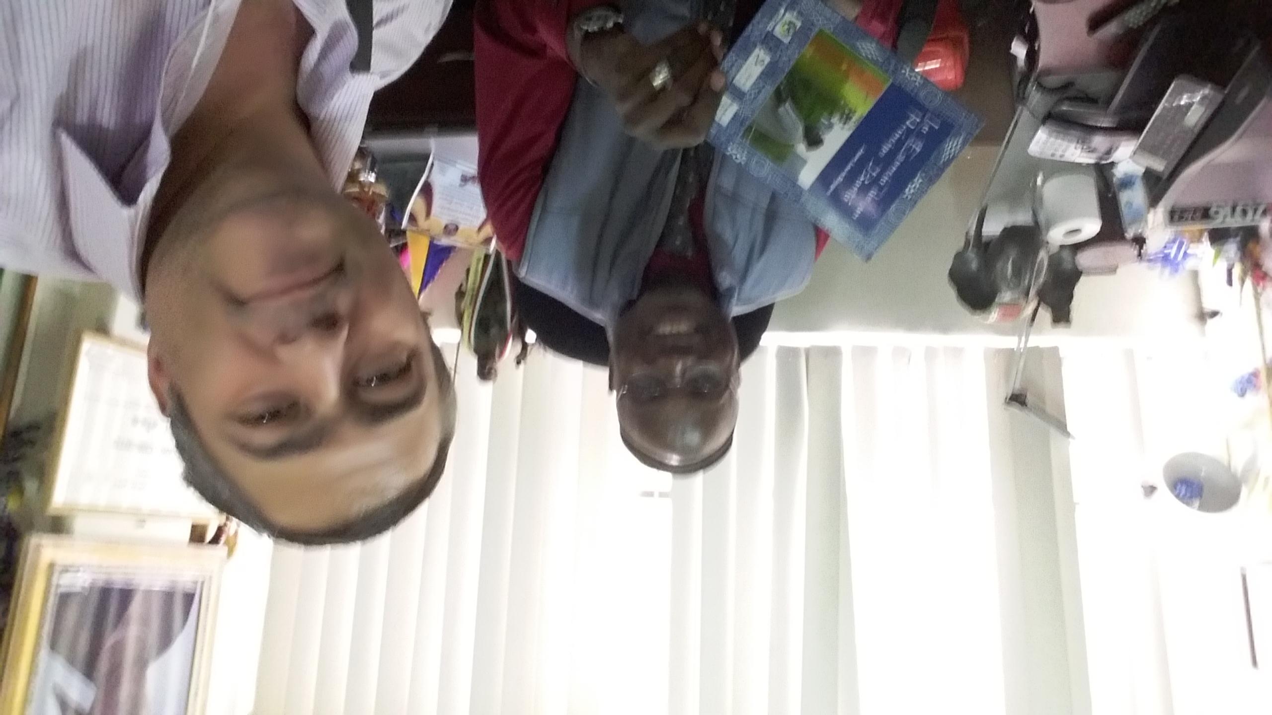 Con el Principe de Camerun