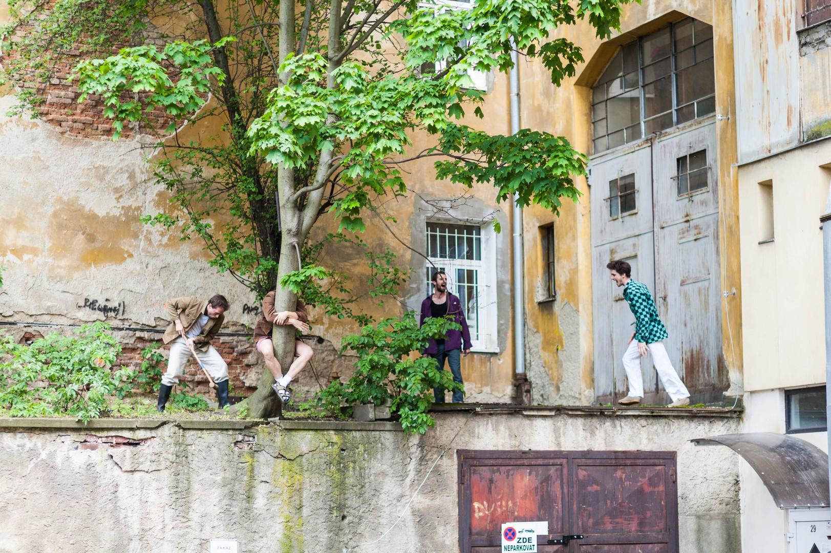 Nuselské dvorky ve Vnitrobloku Mečislavova