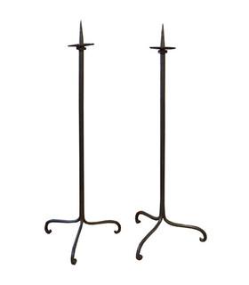 Pair of 17th Century Candlesticks