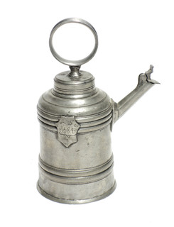 19th Century Pewter Tea Kettle From Bavaria