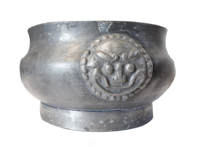18th Century Pewter Candle Holder