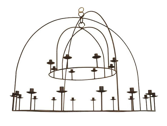 2-TIER CANDELABRA CHANDELIER BY MICHAEL DEL PIERO (CAN BE ELECTRIFIED)