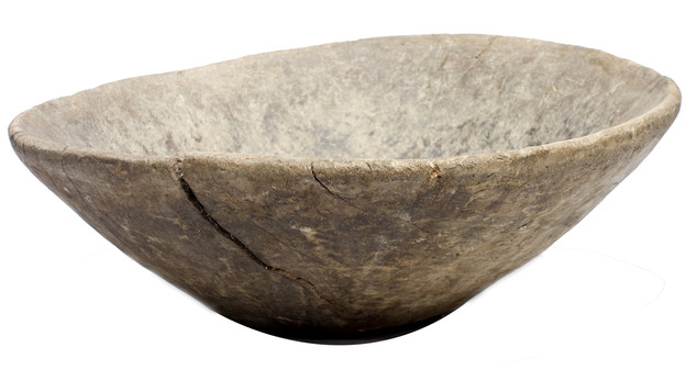 Late 19th Century French Large Wood Bowl